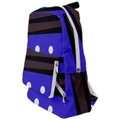 Mixed-lines-dots Black-bg Travelers  Backpack