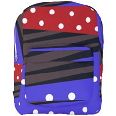 Mixed-lines-dots Black-bg Full Print Backpack by Casemiro