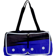 Mixed-lines-dots Black-bg Multi Function Bag by Casemiro