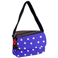 Mixed-lines-dots Black-bg Courier Bag