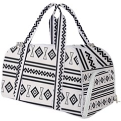 Black And White Aztec Burner Gym Duffel Bag