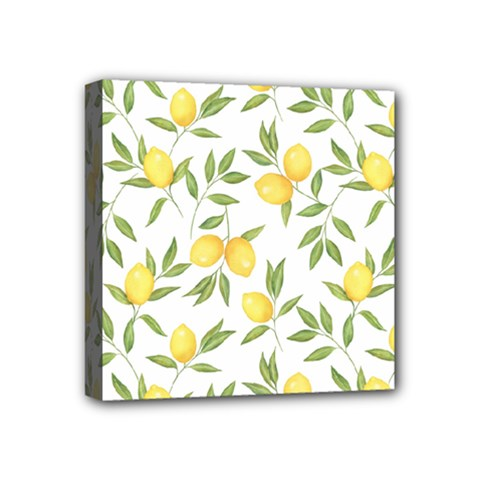 Lemons Mini Canvas 4  X 4  (stretched) by Angelandspot
