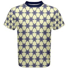 Navy Geometric Stars Pattern  Men s Cotton Tee