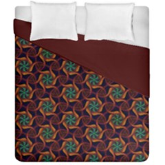 Trippy Teal & Orange Mandala Pattern  Duvet Cover Double Side (california King Size)