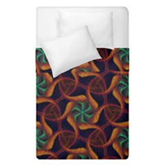 Teal Orange Burgundy Mandala Pattern Duvet Cover Double Side (single Size)