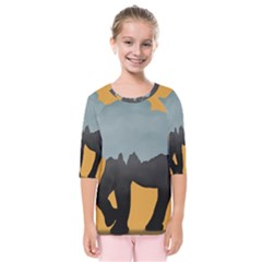 Illustrations Sketch Elephant Wallpaper Kids  Quarter Sleeve Raglan Tee