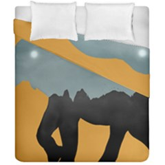 Illustrations Sketch Elephant Wallpaper Duvet Cover Double Side (california King Size)