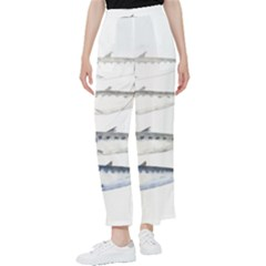 Pencil Fish Sardine Drawing Women s Pants