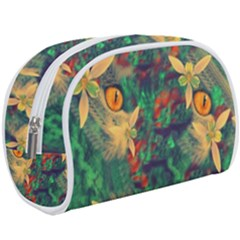 Illustrations Color Cat Flower Abstract Textures Orange Makeup Case (large) by Alisyart