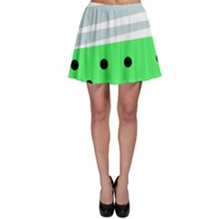 Dots And Lines, Mixed Shapes Pattern, Colorful Abstract Design Skater Skirt by Casemiro