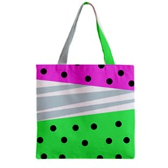 Dots And Lines, Mixed Shapes Pattern, Colorful Abstract Design Grocery Tote Bag by Casemiro