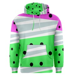 Dots And Lines, Mixed Shapes Pattern, Colorful Abstract Design Men s Core Hoodie by Casemiro