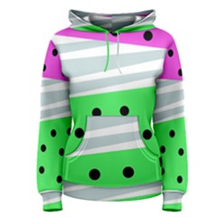 Dots And Lines, Mixed Shapes Pattern, Colorful Abstract Design Women s Pullover Hoodie by Casemiro