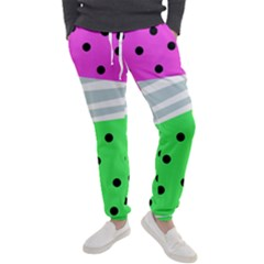Dots And Lines, Mixed Shapes Pattern, Colorful Abstract Design Men s Jogger Sweatpants by Casemiro