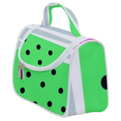 Dots And Lines, Mixed Shapes Pattern, Colorful Abstract Design Satchel Handbag by Casemiro