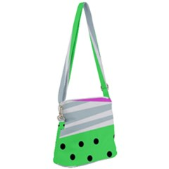 Dots And Lines, Mixed Shapes Pattern, Colorful Abstract Design Zipper Messenger Bag by Casemiro
