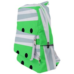 Dots And Lines, Mixed Shapes Pattern, Colorful Abstract Design Travelers  Backpack by Casemiro