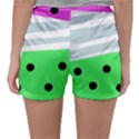 Dots and lines, mixed shapes pattern, colorful abstract design Sleepwear Shorts View2
