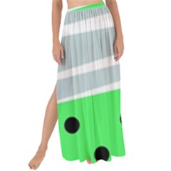 Dots And Lines, Mixed Shapes Pattern, Colorful Abstract Design Maxi Chiffon Tie-up Sarong by Casemiro