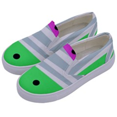 Dots And Lines, Mixed Shapes Pattern, Colorful Abstract Design Kids  Canvas Slip Ons by Casemiro