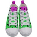 Dots and lines, mixed shapes pattern, colorful abstract design Kids  Mid-Top Canvas Sneakers View1