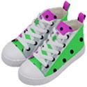 Dots and lines, mixed shapes pattern, colorful abstract design Kids  Mid-Top Canvas Sneakers View2