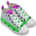 Dots and lines, mixed shapes pattern, colorful abstract design Kids  Mid-Top Canvas Sneakers View3