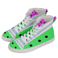 Dots And Lines, Mixed Shapes Pattern, Colorful Abstract Design Women s Hi-top Skate Sneakers by Casemiro