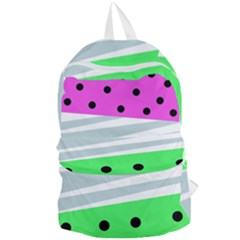 Dots And Lines, Mixed Shapes Pattern, Colorful Abstract Design Foldable Lightweight Backpack by Casemiro