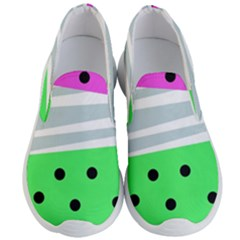 Dots And Lines, Mixed Shapes Pattern, Colorful Abstract Design Men s Lightweight Slip Ons by Casemiro