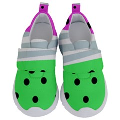 Dots And Lines, Mixed Shapes Pattern, Colorful Abstract Design Kids  Velcro No Lace Shoes by Casemiro