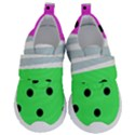 Dots and lines, mixed shapes pattern, colorful abstract design Kids  Velcro No Lace Shoes View1
