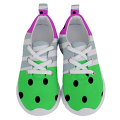 Dots And Lines, Mixed Shapes Pattern, Colorful Abstract Design Running Shoes by Casemiro