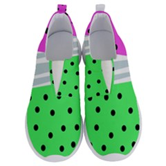 Dots And Lines, Mixed Shapes Pattern, Colorful Abstract Design No Lace Lightweight Shoes by Casemiro