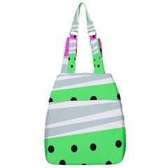 Dots And Lines, Mixed Shapes Pattern, Colorful Abstract Design Center Zip Backpack by Casemiro