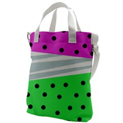 Dots And Lines, Mixed Shapes Pattern, Colorful Abstract Design Canvas Messenger Bag by Casemiro