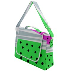 Dots And Lines, Mixed Shapes Pattern, Colorful Abstract Design Box Up Messenger Bag