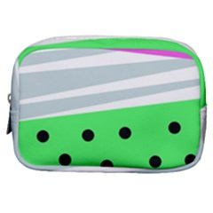 Dots And Lines, Mixed Shapes Pattern, Colorful Abstract Design Make Up Pouch (small) by Casemiro