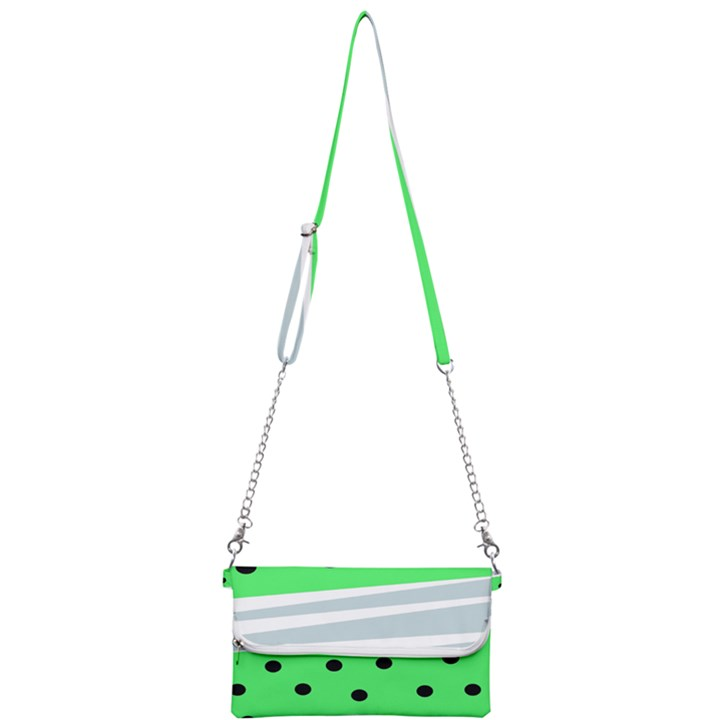 Dots and lines, mixed shapes pattern, colorful abstract design Mini Crossbody Handbag