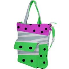 Dots And Lines, Mixed Shapes Pattern, Colorful Abstract Design Shoulder Tote Bag