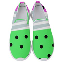 Dots And Lines, Mixed Shapes Pattern, Colorful Abstract Design Men s Slip On Sneakers by Casemiro