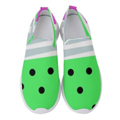Dots And Lines, Mixed Shapes Pattern, Colorful Abstract Design Women s Slip On Sneakers by Casemiro