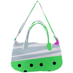 Dots And Lines, Mixed Shapes Pattern, Colorful Abstract Design Removal Strap Handbag