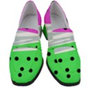 Dots and lines, mixed shapes pattern, colorful abstract design Women s Chunky Heel Loafers View1