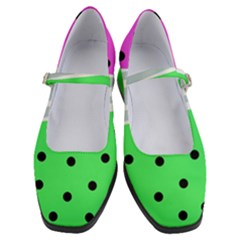 Dots And Lines, Mixed Shapes Pattern, Colorful Abstract Design Women s Mary Jane Shoes by Casemiro