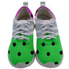 Dots And Lines, Mixed Shapes Pattern, Colorful Abstract Design Mens Athletic Shoes by Casemiro