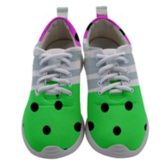 Dots And Lines, Mixed Shapes Pattern, Colorful Abstract Design Athletic Shoes by Casemiro