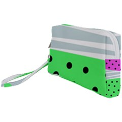 Dots And Lines, Mixed Shapes Pattern, Colorful Abstract Design Wristlet Pouch Bag (small) by Casemiro