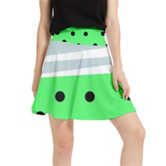 Dots And Lines, Mixed Shapes Pattern, Colorful Abstract Design Waistband Skirt by Casemiro