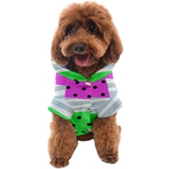 Dots And Lines, Mixed Shapes Pattern, Colorful Abstract Design Dog Coat by Casemiro